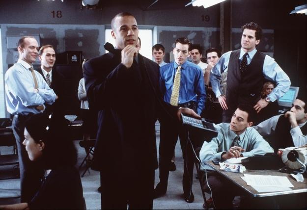 """Vin Diesel as a stock broker in the movie """"Boiler Room"""""""