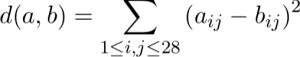 pixel distance